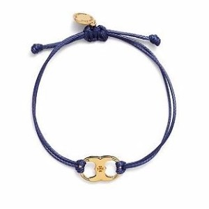【TORY BURCH】トリーバーチ EMBRACE AMBITION BRACELET ブレスレット 41568 長さ調整可能 (TORY NAVY / TORY GOLD) [並行輸入品]