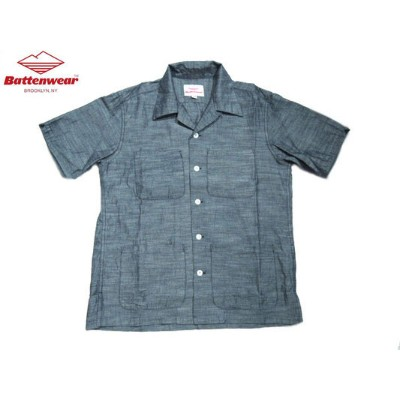 【期間限定30%OFF!】BATTEN WEAR(バテンウェア)FIVE POCKET CHAMBRAY ISLAND SHIRTS/blue【アウトレット】