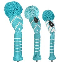 Just 4 Golf Ladies Blue and White Chevron Headcovers【ゴルフ レディース>ヘッドカバー】