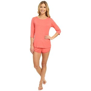 Midnight by Carole Hochman Modal Shorty Pajama with Lace