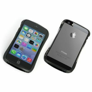 Deff Cleave Aluminum Bumper Mighty for iPhone5/5S Dark Night Black/Black M DCB-IP53A6BKR