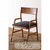 ISSEIKI DESK CHAIR デスクチェア 選べるカラー 幅45 (MBR/WH+BR) 木製家具 FIORE DESK CHAIR (MBR/WH)+COVER (BR)