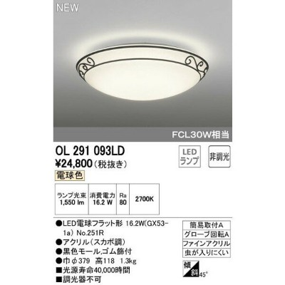 ODELICオーデリックLED小型シーリングライトOL291093LD