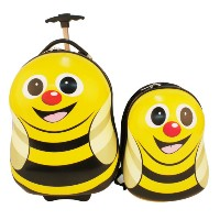 【Cuties and pals】UK Childrens Bag Brand Hard Shell Trolley Case +  13inch Backpack Set CABIZ...