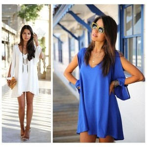 Fashion Summer Women Sexy Chiffon Casual Party Evening Cocktail Short Mini Dress shirts tops