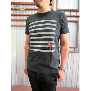 Nudie Jeans(ヌーディージーンズ)【SALE】43161-4014 NECK TEE BLACK【あす楽対応】