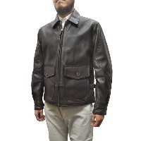 LOST WORLD(ロストワールド)【MADE IN U.S.A】 G-8 LEATHER JACKET(アメリカ製 G8 レザージャケット) GOAT SKIN(ゴートスキン) BROWN