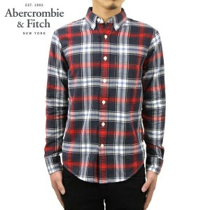 アバクロ Abercrombie&Fitch 正規品 メンズ 長袖シャツ Plaid Herringbone Button-Up Shirt 125-168-2371-208