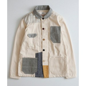 【FDMTL(ファンダメンタル)】FA17/JK12JR-PATCHWORK COVERALL RINSE カバーオール