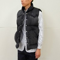 Rocky Mountain Featherbed(ロッキーマウンテンフェザーベッド)/ DENIM DOWN VEST -(590)BLACK-