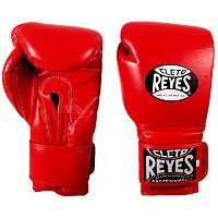 Cleto Reyes Hook & Loop Training グローブ - ベルクロ - レッド - 14 Ounce (海外取寄せ品)
