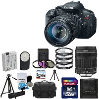 Canon EOS Rebel T5i 18.0 MP CMOS デジタル Camera HD ビデオ with Canon EF-S 18-135mm f/3.5-5.6 IS STM + 4...
