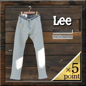 【Lee】スウェットベイカーパンツ(lm4776) Men's □ MELANGE RIB EASY BAKER PANTS