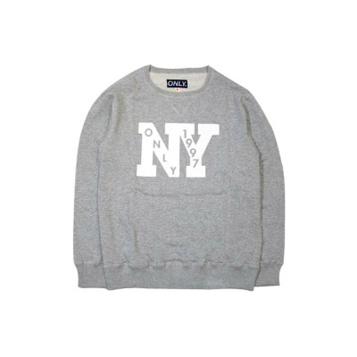 ONLY NY OUTFIELD FRENCH TERRY CREW SWEAT (GREY)オンリーニューヨーク/クルーネックスウェット/グレー