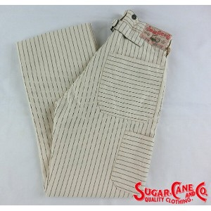 No.SC41379 SUGAR CANE シュガーケーンFICTION ROMANCE9.5oz.WHITE WABASH WORK PANTS