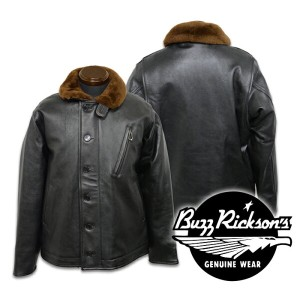 【Buzz Rickson's バズリクソンズ】ジャケット/BR80359 Type BLACK LEATHER N-1!REAL DEAL