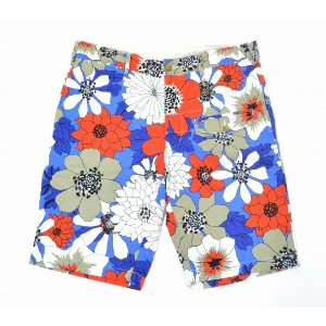 【中古】ENGINEERED GARMENTS (エンジニアードガーメンツ) GHURKA SHORT - FLORAL PRINT グルカショーツ フローラルプリント BLUE×RED 36...