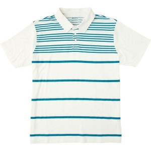 ルーカ メンズ ポロシャツ トップス RVCA Sure Thing Stripe 2 Polo Shirt - Men's Blue Jay