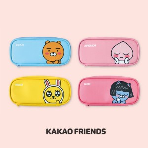【Kakao friends】フェーススリムポーチ/Face slim pouch/ライアン、アピーチ、ムジ、ネオ・韓国KAKAO FRIENDS正品