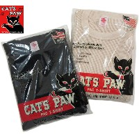 CAT'S PAW/キャッツポウ CP67472 Made in U.S.A.L/S THERMAL SHIRT米国製、無地長袖サーマルTシャツ/ワッフルカットソー