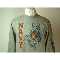 "Buzz Rickson's(バズリクソンズ)Long Sleeve T-SHIRTS""U.S.NAVY""GLENVIEW NAVAL AIR STATION"