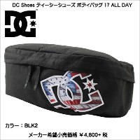DC SHOES ディーシーシューズ ボディバッグ 17 ALL DAY 5230J703 BLK2 ワンショルダー ポーチ ポシェット バック