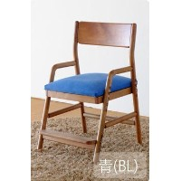 ISSEIKI DESK CHAIR デスクチェア 選べるカラー 幅45 (MBR/WH+BL) 木製家具 FIORE DESK CHAIR (MBR/WH)+COVER (BL)
