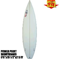 "Power Point パワーポイント サーフボード ショートボード 6'6""フィン付 Shortboard (A62455)Surfboard 未使用アウトレット特価【代引不可】"