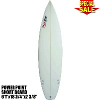 "Power Point パワーポイント サーフボード ショートボード 6'1"" フィン付 Shortboard (A80034)Surfboard 未使用アウトレット特価【代引不可】"