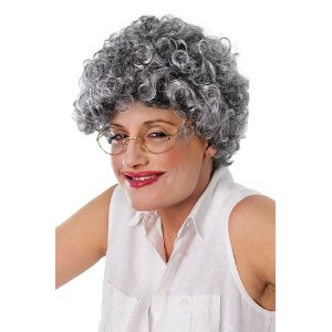 Bristol Novelty Grey Old Lady. Curly Wigs - Women's - One Size