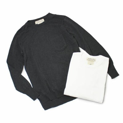 【S/S OUTLET】【SALE30】【LADIES】S/S REMI RELIEF ( レミレリーフ ) / インターシャニット クルーネックトップ【ホワイト/ブラック】【送料無料】