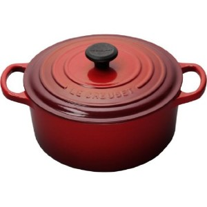 Le Creuset ココット・ロンド 18cm (アメリカ仕様) (チェリーレッド)