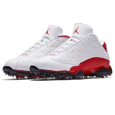 Air Jordan 13 XIII Retro Golf メンズ White/University Red ジョーダン ゴルフシューズ NIKE GOLF SHOES