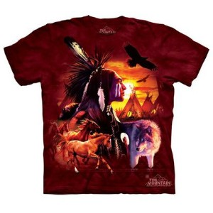 The Mountain Tシャツ Indian Collage (インディアン 歴史 メンズ 男性用 男女兼用) S-L【輸入品】半袖