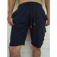 "C.P.COMPANY(シー・ピー・カンパニー)【BERMUDA IN FELPA SEQUOIA CON】""GOGGLE LENS POCKET""EASY SWEAT SHORTS★NAVY★"