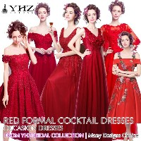 Red Lace Maxi Dresses Wedding Bridal Dress Evening Gowns Long Prom Dress Short Party Dress Plus Size