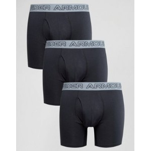 Under Armour Trunks In 3 Pack In Black