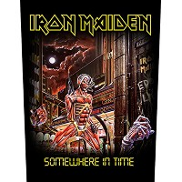 Iron Maiden バックパッチ Somewhere In Time band logo 新しい 公式 (36cm x 29cm)