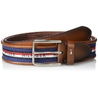 ◆Direct from USA◆ Tommy Hilfiger Men s Stripe Fabric Casual Belt-11TL02X179