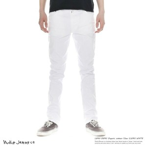 Nudie Jeans ヌーディージーンズ メンズ ストレッチ スリム LEAN DEAN リーンディーン CLEAN WHITE 112528 7063【XLサイズ】