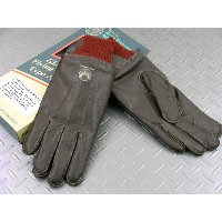 BUZZ RICKSON'S/バズリクソンズ A-10 GLOVE A-10レザーグローブ/革手袋 S/BROWN×RED RIB(赤リブブラウン)/BR1221