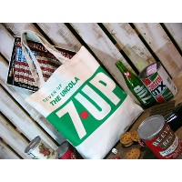 7up セブンアップ キャンバストートバッグTHE UNCOLA 7UP アメリカ雑貨 アメリカン雑貨
