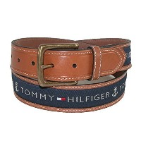 ◆Direct from USA◆ Tommy Hilfiger Men s Ribbon Inlay Belt-08-4618-42