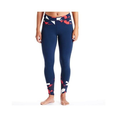 オイシレ レディース インナー タイツ【Oiselle Window Tight Leggings】Midnight / Midnight Tribeca Print
