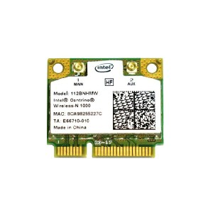インテル Intel Centrino Wireless-N 1000 Single Band 2.4GHz 802.11b/g/n PCIe Mini half 無線LANカード 112BNHMW