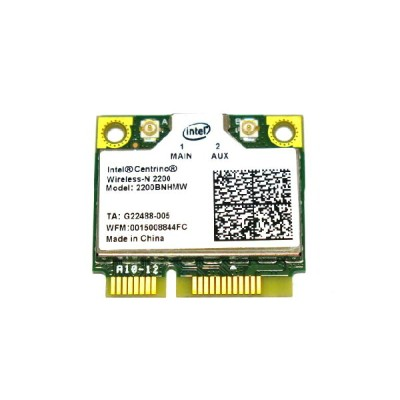 インテル Intel Centrino Wireless-N 2200 Single Band 2.4GHz 802.11b/g/n PCIe Mini half 無線LANカード 2200BNHMW