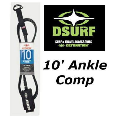 10'ANKLE SMALL DESTINATION DOUBLE SWEIVEL LEASH (COMBI) COMP ディスティネーション リーシュコード 10フィート コンプ 足首用...