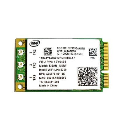 Lenovo/HP純正 43Y6495 506679-001 Intel Wireless WiFi Link 5300 802.11a/b/g/n 450Mbps PCIe Mini...