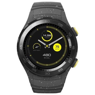 HUAWEI スポーツスマートウォッチ HUAWEI WATCH 2 Concrete Grey WATCH2/SPORT/NON-4G/CG [WATCH2SPORTNON4GCG]
