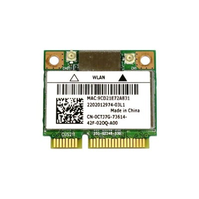 Dell Bigfoot's Killer Wireless-N 1202 802.11a/b/g/n + BT4.0 ゲーム愛好者向けPCIe mini half 対応無線LANカード...